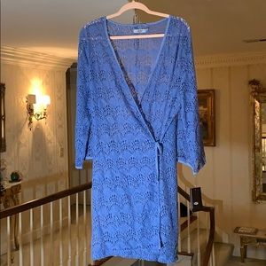 UGG Lace Wrap Robe/Gown Periwinkle Blue NWT!!!
